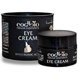 Интензивно хидратиращ и регенериращ 24h, крем за очи и устни, с екстракт от охлюви - CODBIO, 30 мл.